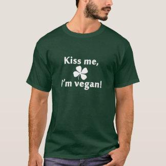 Kiss Me, I'm Vegan! (White) T-Shirt