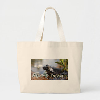 Kiss me I'm yours Large Tote Bag