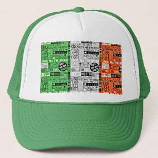 Kiss Me Irish Flag Trucker Hat