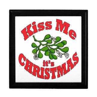 kiss me it's Christmas Gift Box