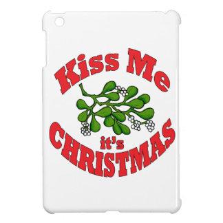 kiss me it's Christmas iPad Mini Cases