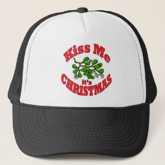 kiss me it's Christmas Trucker Hat