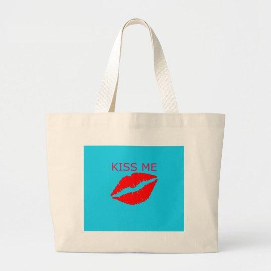 Kiss Me Large Tote Bag