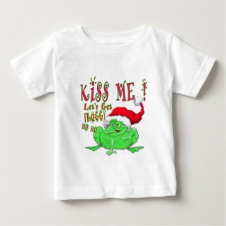 Kiss Me lets get Froggy Baby T-Shirt