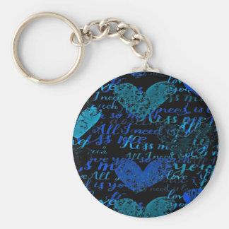Kiss Me Miss Me Blue Keychain