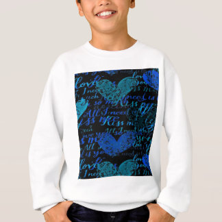 Kiss Me Miss Me Blue Sweatshirt