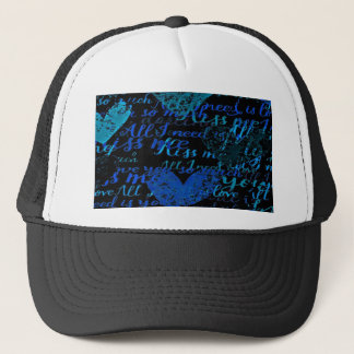 Kiss Me Miss Me Blue Trucker Hat