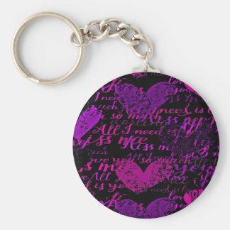 Kiss Me Miss Me Purple Keychain