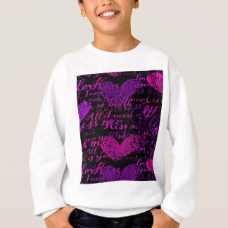 Kiss Me Miss Me Purple Sweatshirt
