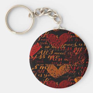 Kiss Me Miss Me Red Keychain