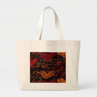 Kiss Me Miss Me Red Large Tote Bag