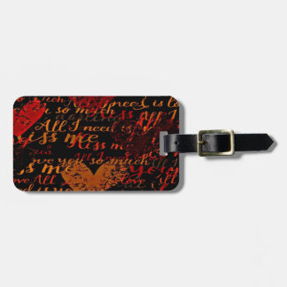 Kiss Me Miss Me Red Luggage Tag