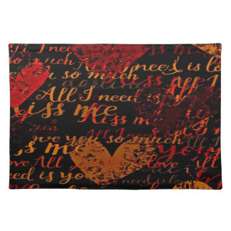 Kiss Me Miss Me Red Placemat