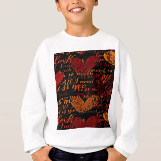 Kiss Me Miss Me Red Sweatshirt