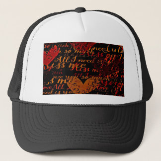 Kiss Me Miss Me Red Trucker Hat