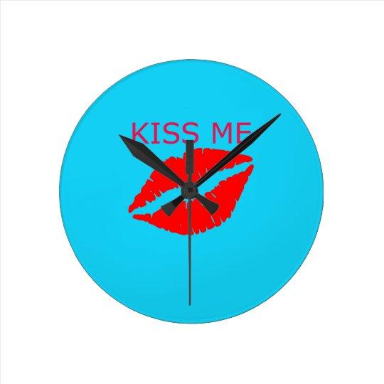 Kiss Me Round Clock