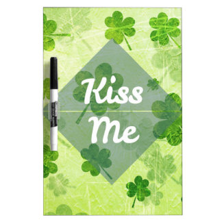 Kiss Me Shamrock Dry-Erase Board