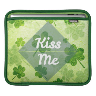 Kiss Me Shamrock iPad Sleeve