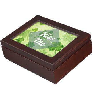 Kiss Me Shamrock Keepsake Box