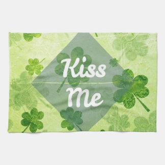 Kiss Me Shamrock Kitchen Towel