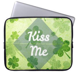 Kiss Me Shamrock Laptop Sleeve