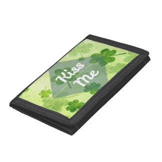 Kiss Me Shamrock Tri-fold Wallet