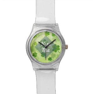 Kiss Me Shamrock Wrist Watch
