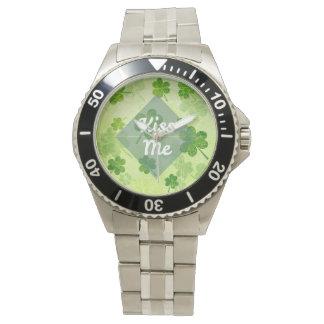 Kiss Me Shamrock Wristwatches