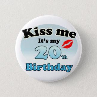 Kiss m'it's my 20th Birthday Macaron Rond 5 Cm