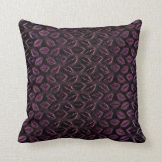 Kiss Mouth Purple Plum 3D Three-dimensional Vip Throw Pillow