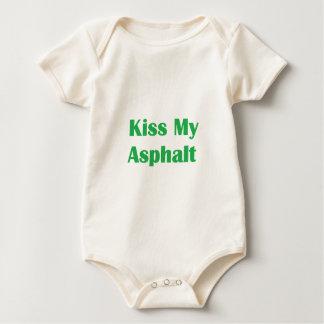 Kiss My Asphalt- Green Baby Bodysuit