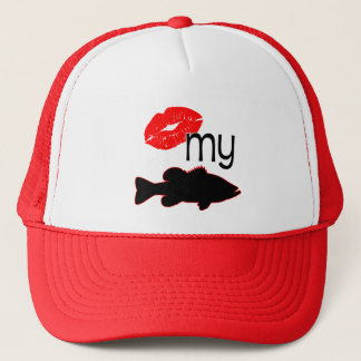 Kiss my Bass - funny bass fishing Trucker Hat