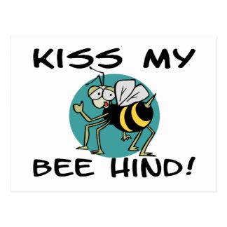 Kiss My Bee Hind Postcard