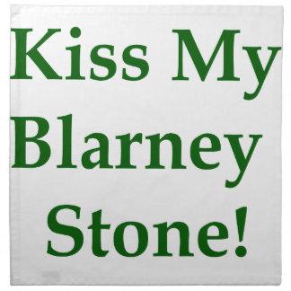 Kiss My Blarney Stone Cloth Napkin