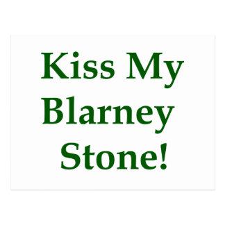 Kiss My Blarney Stone Postcard