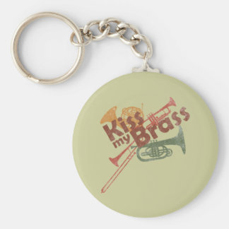 Kiss My Brass Keychain