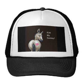 kiss my donkey cap trucker hat