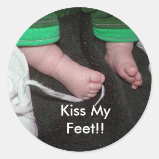 Kiss My Feet!! Round Sticker