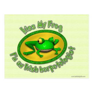 Kiss My Frog... Postcard
