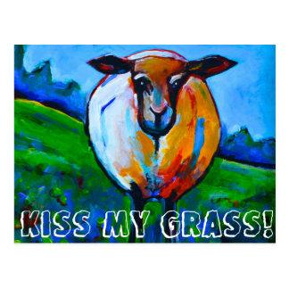 Kiss My Grass! Postcard