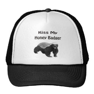 kiss My Honey Badger Trucker Hat