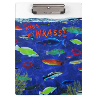Kiss My Wrasse Fish Clipboards