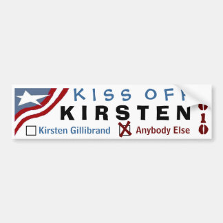 Kiss Off Kirsten Bumper Sticker