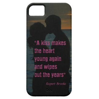 Kiss quote Rupert Brooke love background iPhone 5 Cases