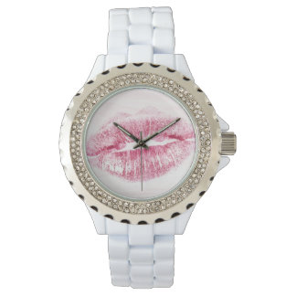 Kiss Rhinestone Enamel Watch