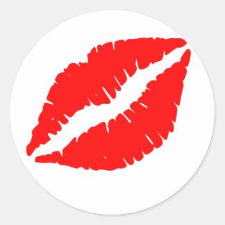 kiss sideways classic round sticker
