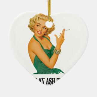 kiss the ash tray fun ceramic ornament