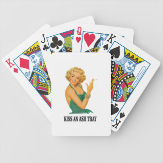 kiss the ash tray fun poker deck