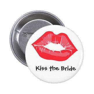 Kiss the Bride 2 Inch Round Button