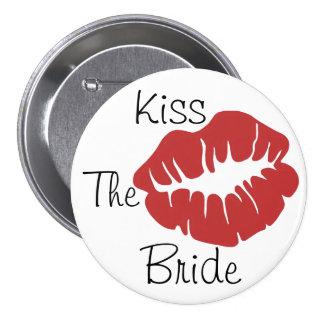 Kiss The Bride 3 Inch Round Button